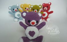 Valentine's teddy bear heart amigurumi crochet free pattern patrón gratis