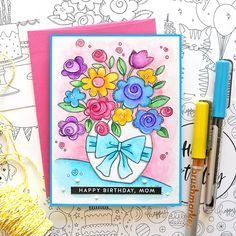 Living My Dream: STAMPtember Blog Party for Simon Says Stamp! Happy Birthday Mom, Simon Says Stamp, My Dream, Party, Blog, Inspiration, Cards, Biblical Inspiration, Happy Birthday Mama