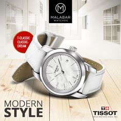 This classic #Tissot watches are perfect watches for graceful ladies. #MalabarWatches #Watches #Tissot