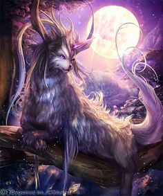 Hagis by kazashino on DeviantArt Mystical Animals, Mythical Creatures Art, Magical Creatures, Fantasy Beasts, Fantasy Monster, Anime Wolf, Fantasy Character Design, Anime Animals, Dark Fantasy Art