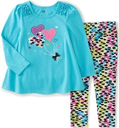 eb3fa34c8e7a Kids Headquarters Baby HighLow Tunic with Leggings Set Blue 12 Months  >>>