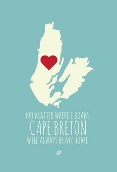 Cape Breton will always be my home