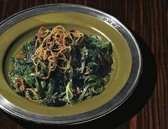Skillet Greens with Crispy Shallots and Cider Gastrique  Recipe