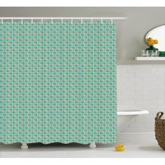 Home - Country Decor Idea White Shower, Moroccan Decor, Mosaic Patterns, Bathroom Sets, Hooks, Teal, Curtains, Floral, Haken
