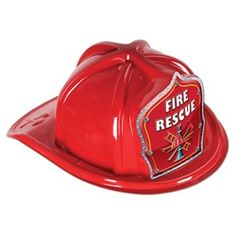 Red Fire Rescue Firefighter Hat $1.32