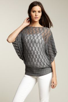 Pattern Knit Top - omg so wish I could knit this well!