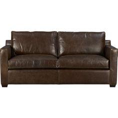 Metropolitan Top Grain Leather Sectional And Ottoman Living Room Set