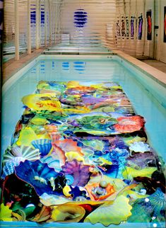 Dale Chihuly just amazes me. I would love to swim there!