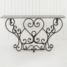 Wrought Iron Console Table – Allissias Attic & Vintage French Style at www.allissiasattic.co.uk