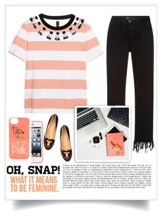 """""""Oh Snap"""" by emcf3548 ❤ liked on Polyvore featuring Mother of Pearl, 3x1, Charlotte Olympia and Rifle Paper Co"""