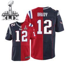 9659d9f2b NFL New England Patriots Tom Brady Mens Elite Team Alternate  12 Super Bowl  XLIX Jersey
