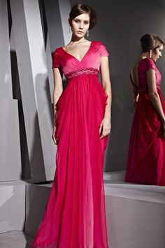 Short Sleeves Formal Dresses Long Ombre Red V-neck Mermaid Dress - Evening Dresses - Special Occasions Prom Dress 2013, V Neck Prom Dresses, Cheap Prom Dresses, Formal Dresses, Sleeve Dresses, Party Dresses, Dresses Uk, Long Dresses, Occasion Dresses