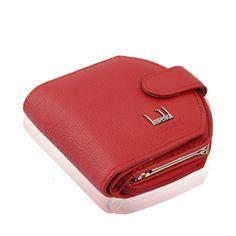 2017 패션 정품 가죽 레드 여성 지갑 짧은 고급 유명 브랜드 디자이너 지갑 클러치 가방 동전 돈 카드 홀더 뜨거운