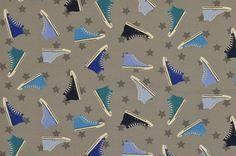Jersey - Turnschuhstoff - Chucks - Jersey grau-blau - ein Designerstück von Der-Stoffstand bei DaWanda