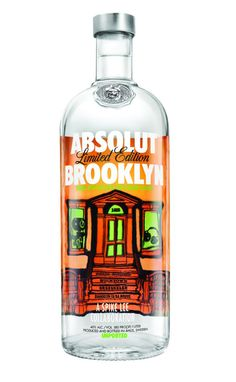 Absolut Vodka Brooklyn New York marketing Alcohol Bottles, Drink Bottles, Vodka Bottle, Liquor Bottles, Absolut Vodka Limited Edition, Hey Bartender, Brooklyn Baby, Bottle Packaging, Bottle Design