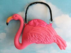 The most ridiculous thing I have ever seen | Pink Flamingo Purse by EyeCandySugar on Etsy