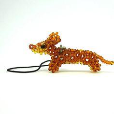 Dog breed jewelry beaded 3d dog charms cute doggy by SeedBeadDogs