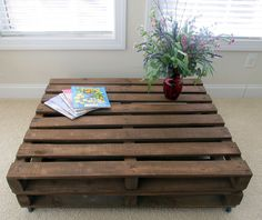Pallet Wood Coffee Table -   Beautifully handcrafted pallet table via Etsy