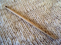8 mm. wood crochet hook/ crochet supply / by deorigenchile on Etsy, $8.00