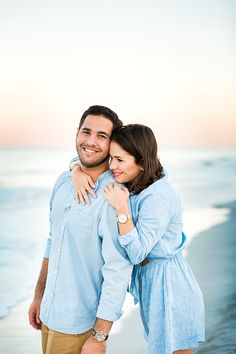 sunset beach engagement session in jacksonville fl. Posing ideas for couples