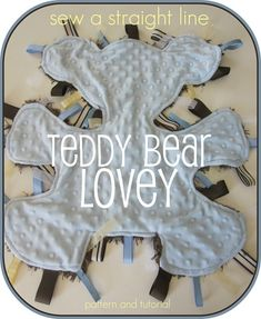 FREE PATTERN + TUTORIAL: button teddy bear lovey. Also available on Craftsy.