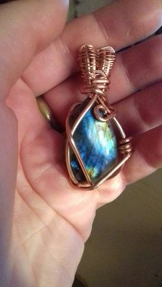 Handmade Necklace Labradorite wirewrapped by TheEyeOfTheRedMoon
