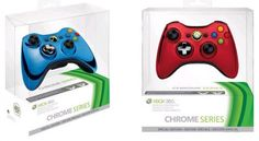 Matte and glossy surfaces have nothing on chrome, and Microsoft's upcoming limited edition controllers are decked out in the bling-friendly finish. Announced by Major Nelson, the wireless controllers feature a transforming d-pad and will be available mid-May in Blue, Red and Silver for $54.99 each. Pretty!! I want!!!