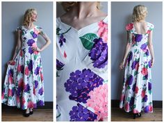A personal favorite from my Etsy shop https://www.etsy.com/listing/553564079/1940s-gown-cascading-hydrangea-cotton