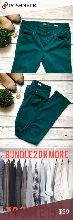 """Level 99 Lily Straight Skinny Jeans Dark Teal ⭐️Like New⭐️ Level 99 Lily Straight Skinny Jeans. Beautiful dark Teal color. Rise 9"""" & Inseam 30"""". Level 99 Jeans Skinny"""