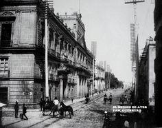 Calle de Tacuba en 1897, México D.F.
