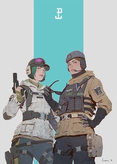 Rainbow Six Siege Anime, Rainbow 6 Seige, Tom Clancy's Rainbow Six, Rainbow Art, Anime Military, Military Art, Fanart, Ela Bosak, Character Inspiration