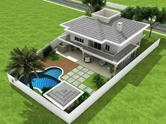 House plans mansion - Four Bedroom Two Storey Contemporary Residence Amazing Architecture Magazine Bungalow House Design, House Front Design, Small House Design, Modern House Design, Bungalow Exterior, Modern Bungalow, Duplex House, Architecture Résidentielle, Architecture Magazines