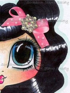 INSTANT DOWNLOAD Digital Digi Stamps Big Eye Big Head Dolls Digi  My - Besties  Img593 Eyes 5 By Sherri Baldy