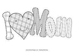 """Here's a simpler version of our """"I Love Mom"""" colouring page, perfect for Mother's Day. Mothers Day Coloring Sheets, Mom Coloring Pages, Disney Coloring Pages, Coloring Books, Adult Coloring, Mother's Day Projects, Sewing Projects, Mothers Day Crafts, Happy Mothers Day"""