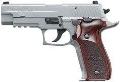 """NOVA Firearms   Sig Sauer P226 Standard 9mm 4.4"""" 15+1 Custom Rosewood Grip Stainless"""