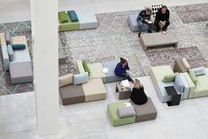 Moduplus is dé specialist in duurzame zitsystemen en biedt: ✓ Eindeloos hergebruik ✓ Innovatief, modulair zitsysteem ✓ Tijdloos ✓ Maak uw eigen 3D ontwerp Outdoor Furniture Sets, Outdoor Decor, Atrium, Floor Chair, Sun Lounger, Sustainability, Indoor, Inspiration, Design