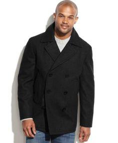 Nautica Wool-Blend Pea Coat | macys.com