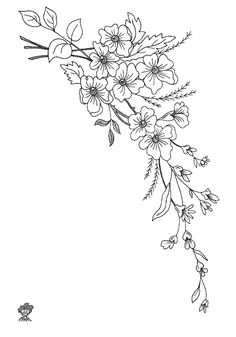 Embroidery Flowers Pattern, Hand Embroidery Designs, Floral Embroidery, Brush Pen Art, Doodle Tattoo, Art Painting Gallery, Simple Line Drawings, Carving Designs, Sewing Art