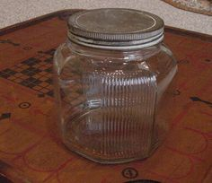 Antique Farmhouse Large Glass Jar Cookies Sugar Canister Ribbed Paneled   Etsy $25