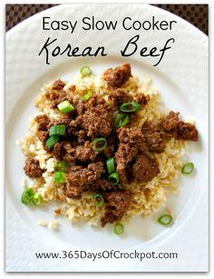 2015.07.28 Easy Slow Cooker Korean Beef