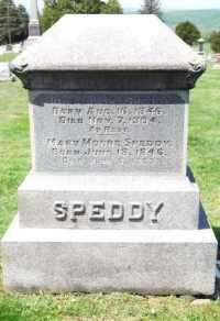 Speedy Cemetery Stone Ancestor Photo