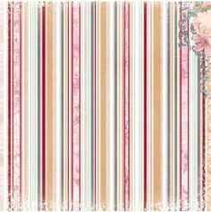 Stickers > Stickers > Stripe Paper - Madeleine - Bo Bunny: A Cherry On Top Textile Patterns, Textile Prints, Print Patterns, Scrapbook Paper Flowers, Free Paper, Paper Background, Print Pictures, Flower Prints, 3 D