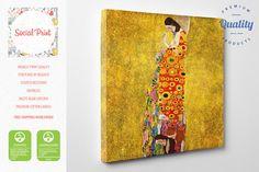 "Gustav Klimt - ""Hope II"", Canvas Print, Reproduction Fine Art gallery print Artwork Giclee decor wall art, love, kiss canvas, romantic art"