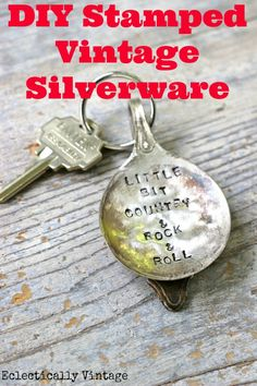Learn how to stamp silverware to create the coolest stamped silver spoons and more. She turned a spoon into a stamped keychain - easy step by step tutorial