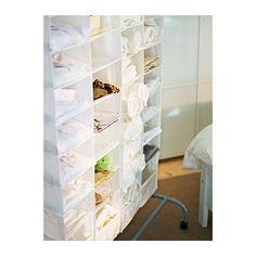 SKUBB Opberger met 9 vakken IKEA Het klittenband maakt het ophangen en verwijderen heel eenvoudig.