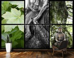 Bouddhisme et Relaxation wall mural room setting