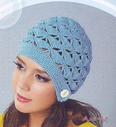 Several beautiful crochet hat charts Crochet Woman, Crochet Lace, Yarn Projects, Knitting Projects, Bonnet Rose, Crochet Summer Hats, Summer Patterns, Yarn Over, Diy Clothing