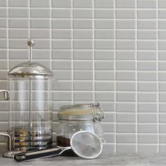 Stylish grey gloss mosaic, in a linear brick layout. Hardy porcelain makes these tiles ideal for walls or floors (or both!)with a long lasting style Grey Mosaic Tiles, Wall Tiles, Grey Brick, Porcelain, Flooring, Walls, Bathroom, Home Decor, Room Tiles