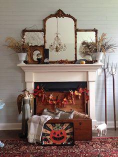 Quince Cottage Halloween Mantel © Rhiann Wynn-Nolet