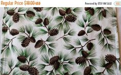 ON SALE Winter Table Runner Evergreen Pinecones by MakeMeOver
